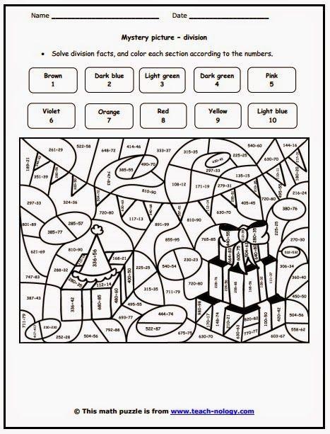 6th Grade Color Sheets Involving Dividing Saferbrowser