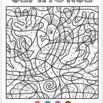 Color By Number Ocean Animals Coloring Pages 1 1 1 1