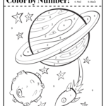 Color By Number Space Worksheet Actividades Espaciales