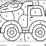 Color By Number Truck Preschool Coloring Pages