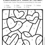 Color By Number Valentine s Day Preschool Worksheets