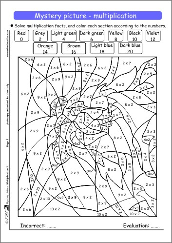 Coloring Pages Multiplication Coloring Sheets On Mystery
