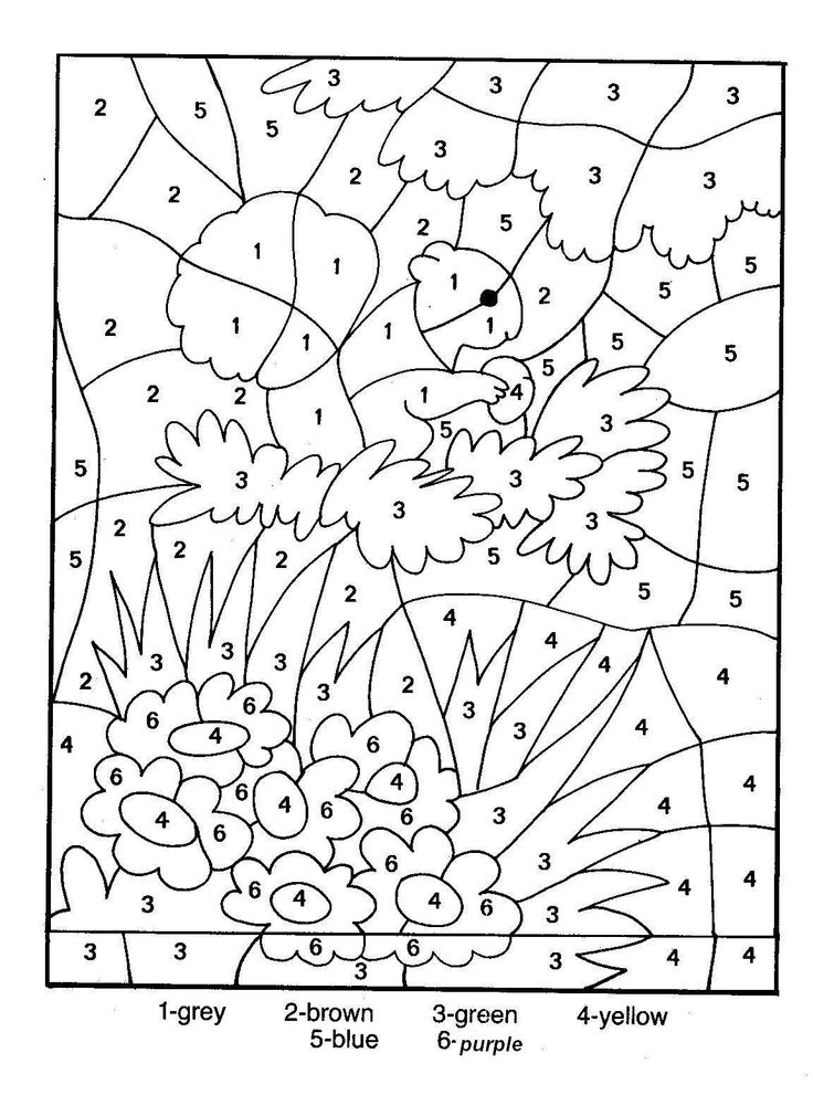 Coloring Pages Printable Color By Number For Adults