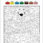 Division Coloring Worksheets 3rd Grade Math Multiplication