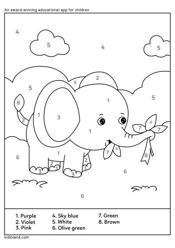Download Free Color By Number 37 And Educational Activity