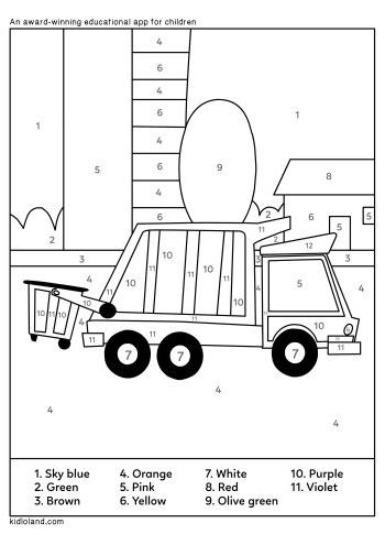 Download Free Color By Number 45 And Educational Activity