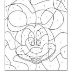 Free Disney Color By Number Printables Disney Coloring