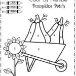 Free Kindergarten Fall Color By Number Worksheet