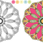 Free Mandala Coloring Page Color By Numbers 4 Porter Fig