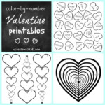 Free Printable Color By Number Valentine Pages U Create