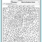 Get PDF Coloring Pages For Kids Color Color By Numbers