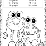 Halloween Color By Number And Sight Word Coloring Sheets