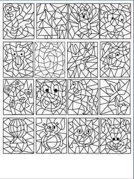 Make Your Own Color By Number Clipart Collection 16 Images