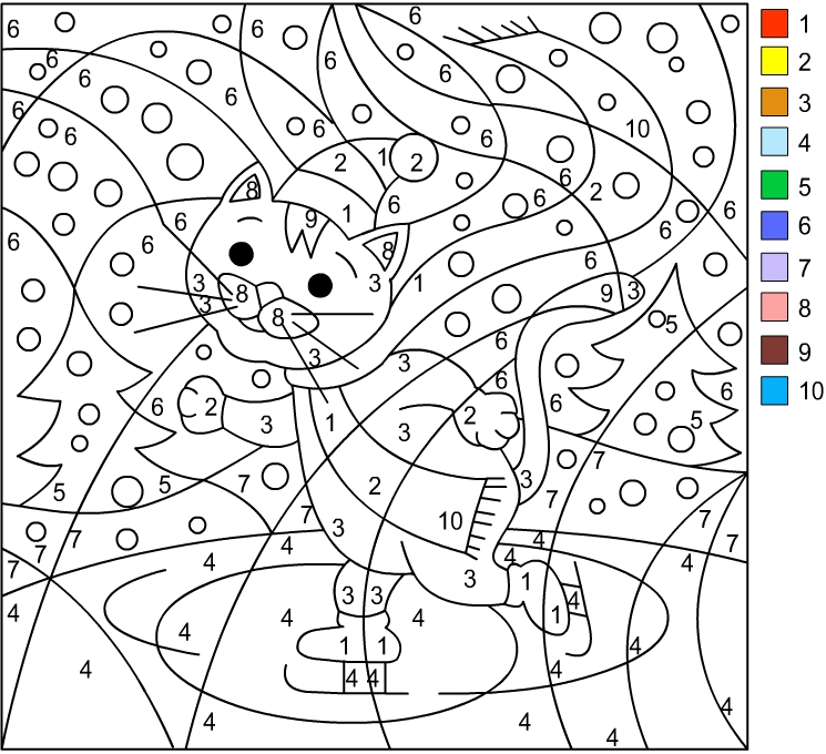 Nicole s Free Coloring Pages WINTER Color By Number
