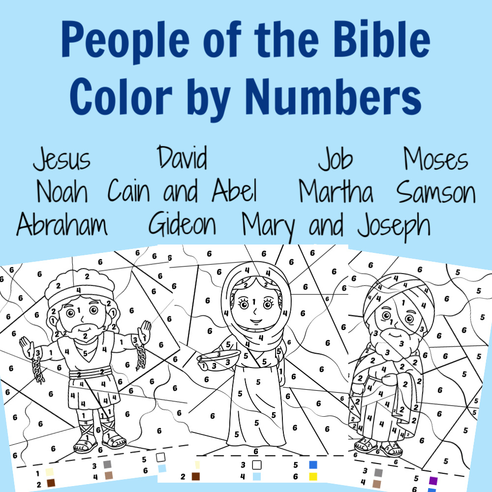 The Activity Mom Jesus Color By Number Free Printable