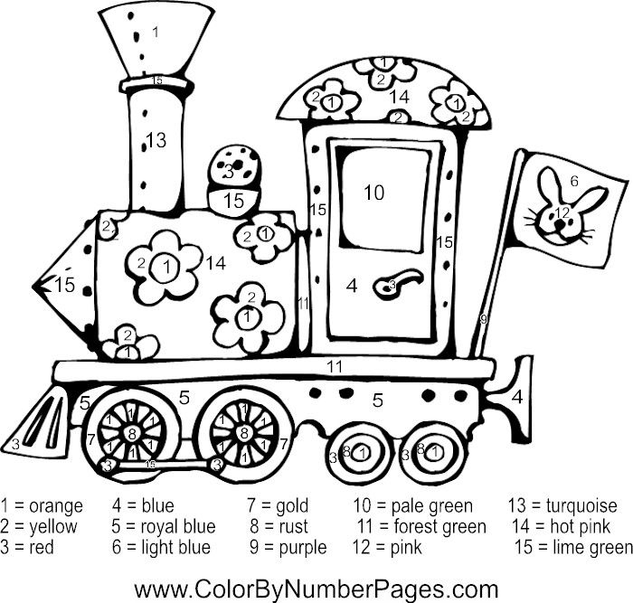 Train Color By Number Page Fall Coloring Pages Coloring