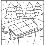 Winter Color By Numbers Worksheets Planes Balloons