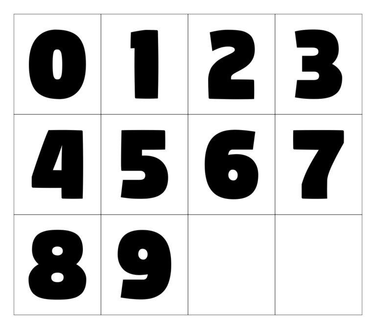 10 Best Large Printable Numbers 0 9 Printablee