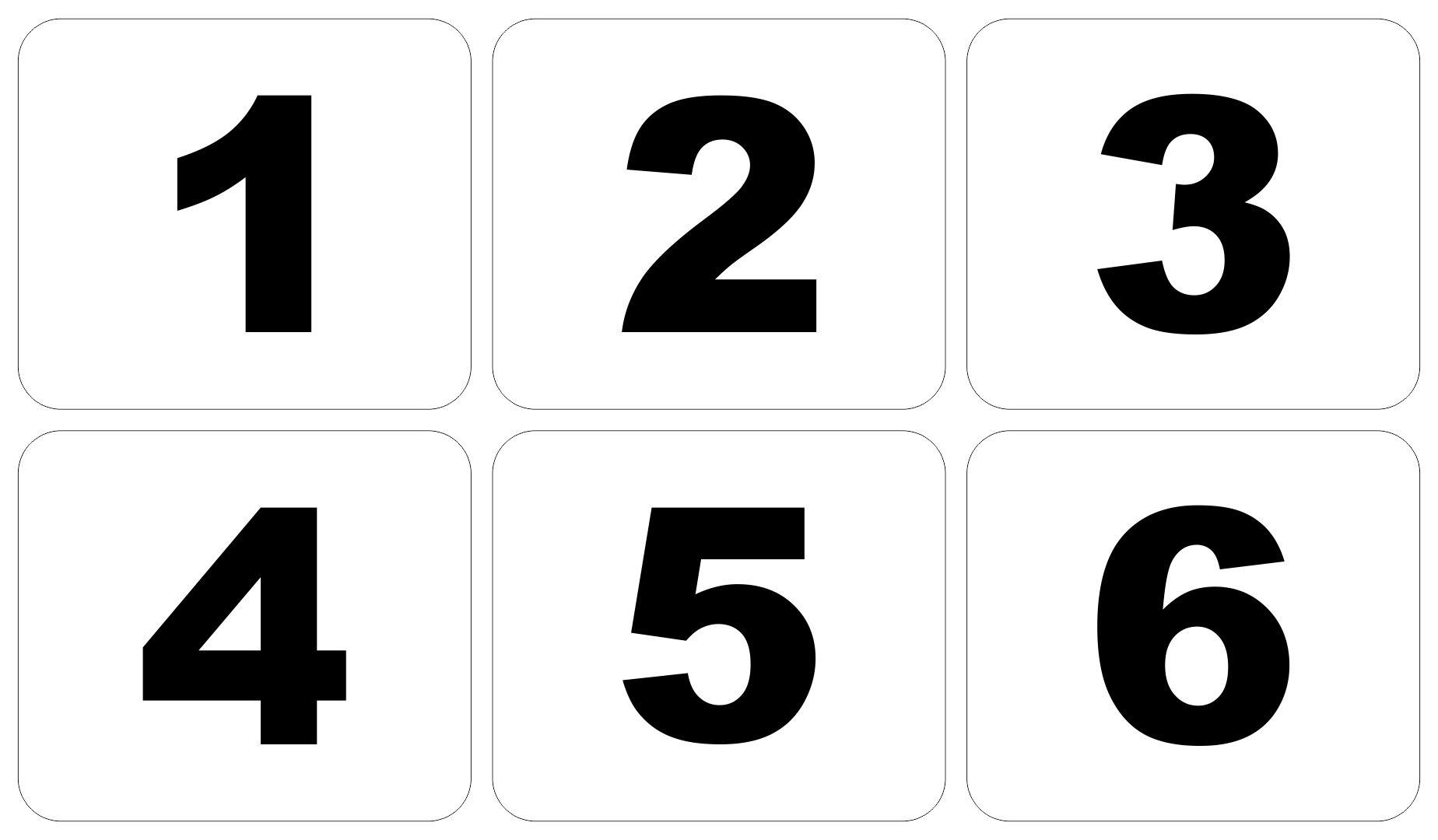 10 Best Large Printable Numbers 1 9 Printablee
