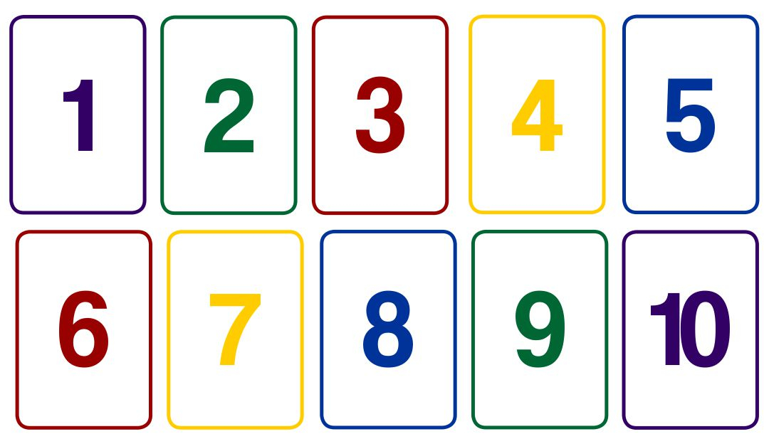 10 Best Printable Number Card 1 10 Printablee