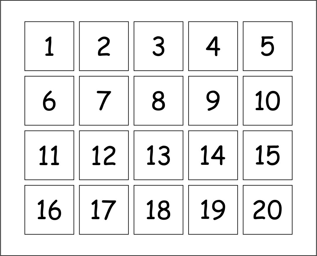 10 Best Printable Number Flash Cards 1 20 Printablee
