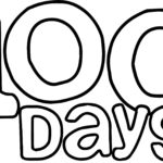 100 Days Text Coloring Page Wecoloringpage