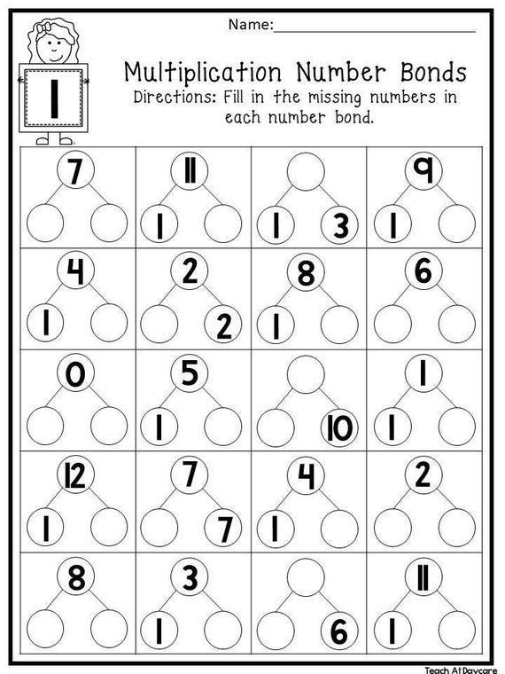 12 Printable Multiplication Number Bonds Worksheets