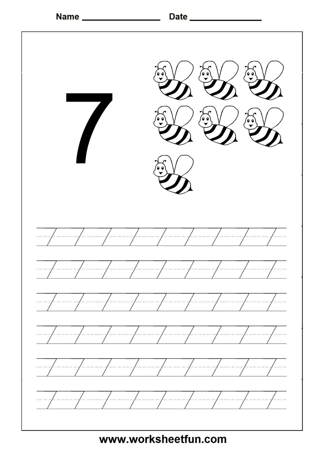 15 Best Images Of Number 7 Worksheets For Pre K Number 7
