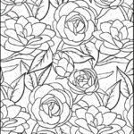 2 Of 4 Color By Number Floral Edition Coloring Pages