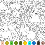 20 Free Printable Hard Color By Number Pages For Adults