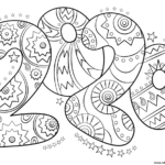 2020 Number New Year Coloring Pages Printable