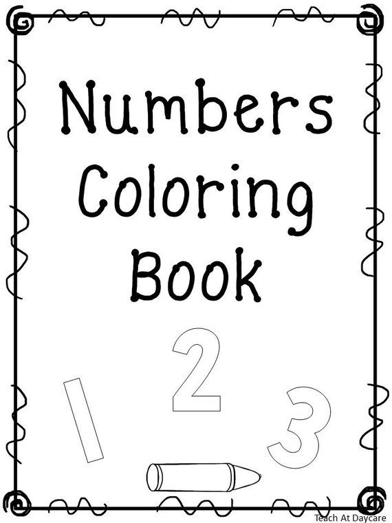 21 Printable Number Coloring Book Worksheets Numbers 1 20