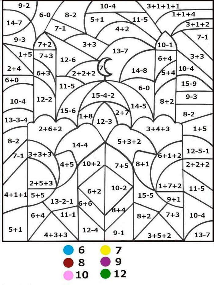 4th Grade Color By Number Multiplication Worksheets 101
