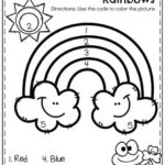 5 Rainbow Color By Number Printables For Kids