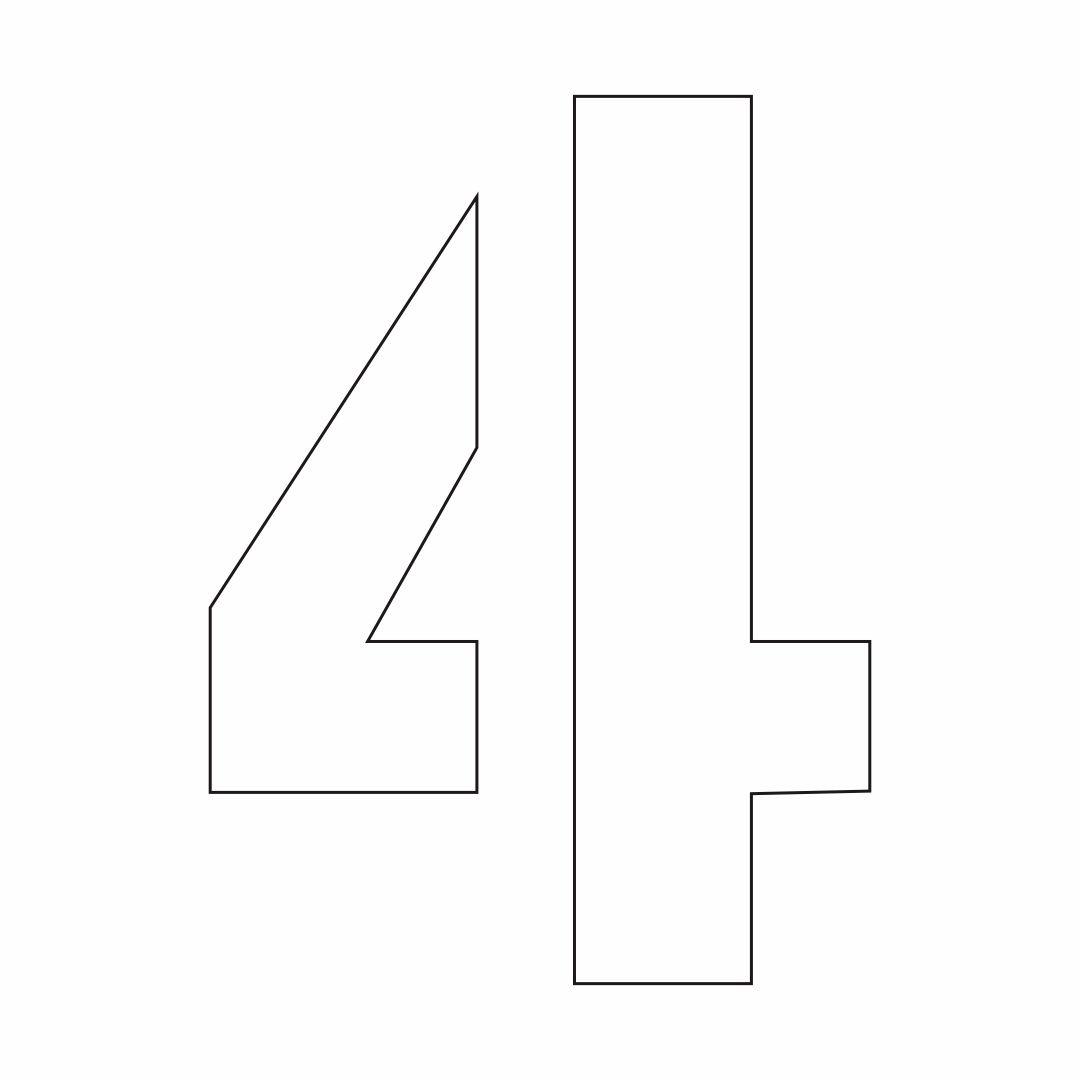 6 Best Big Printable Number 4 Printablee