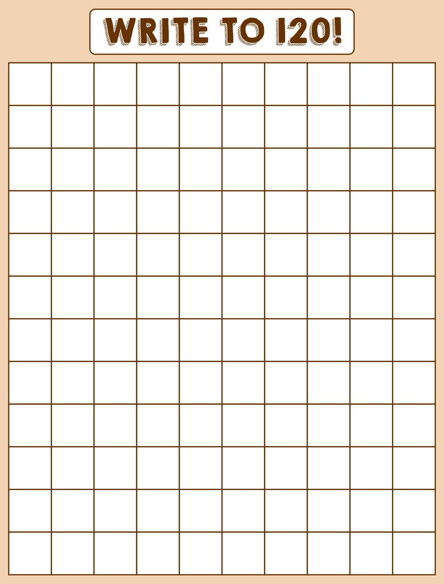 6 Best Printable Blank Chart 1 120 Printablee