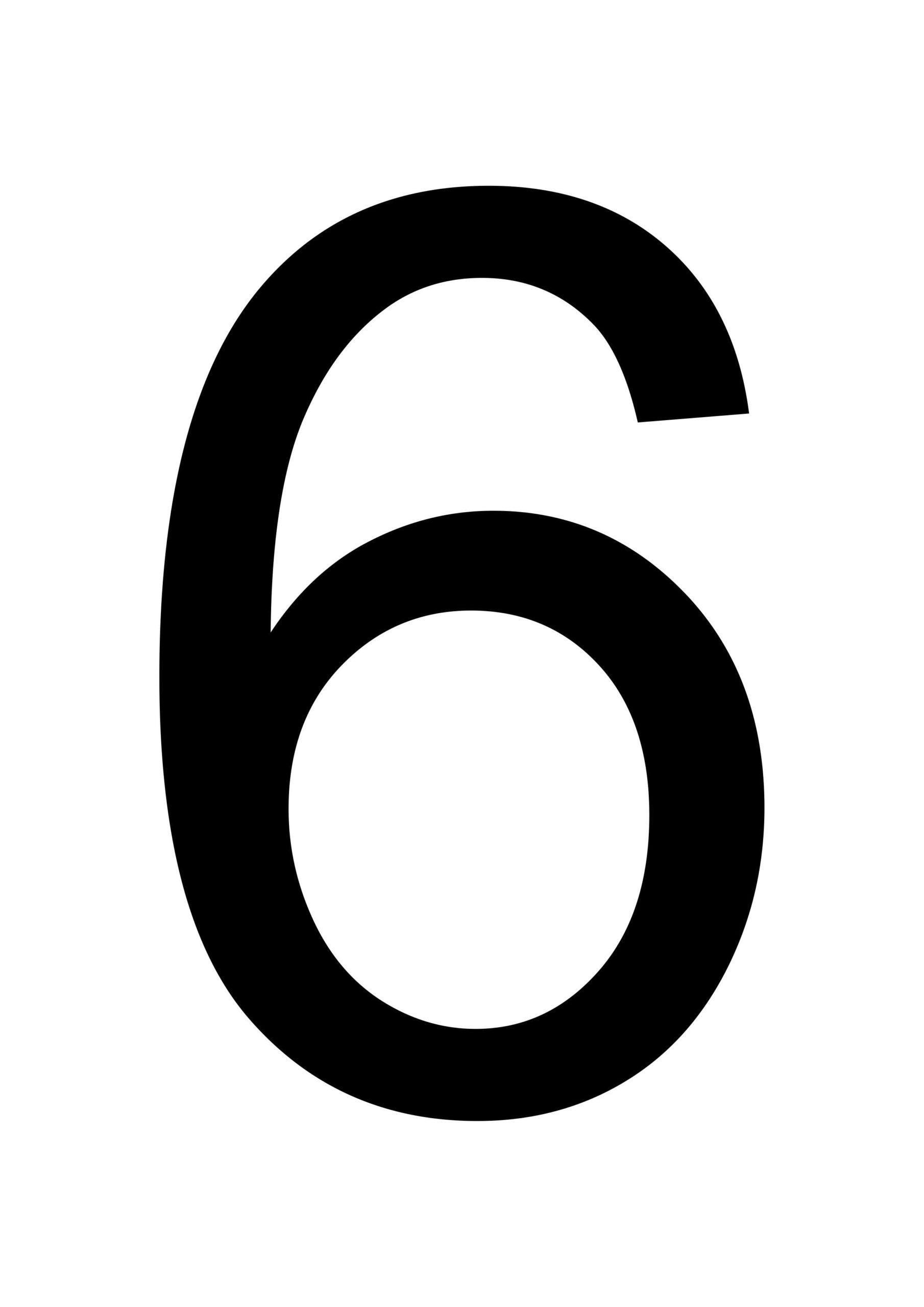6 Number 6 Large Printable Numbers Free Printables
