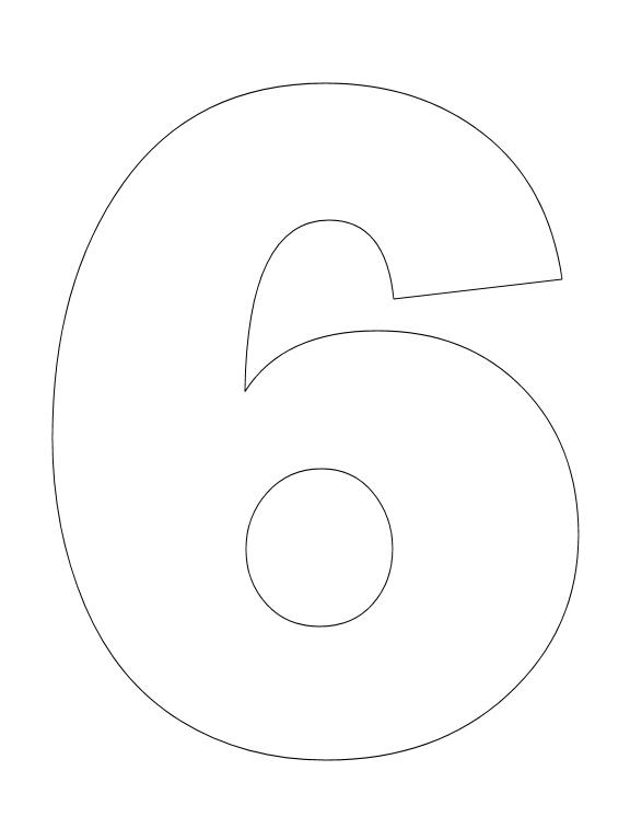 7 Best Large Printable Number 6 Printablee