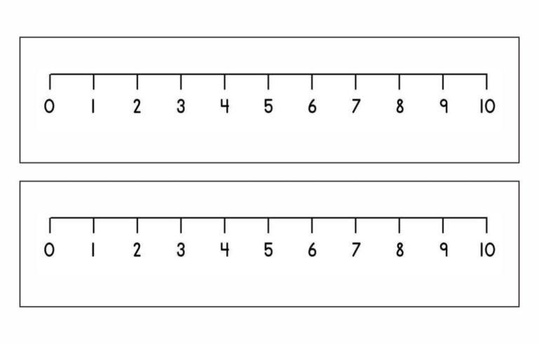 7 Best Printable Blank Number Line 1 10 Printablee