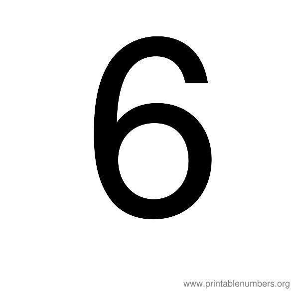 7 Best Printable Number 6 7 Printablee