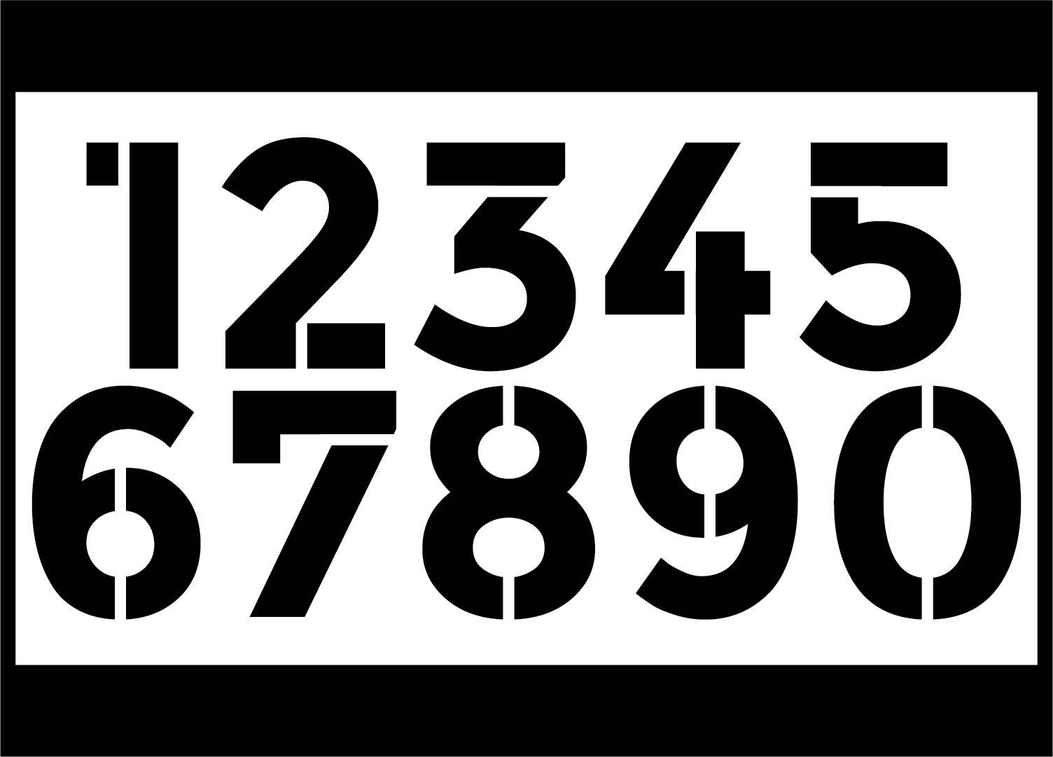 9 Best 1 Inch Printable Numbers Printablee