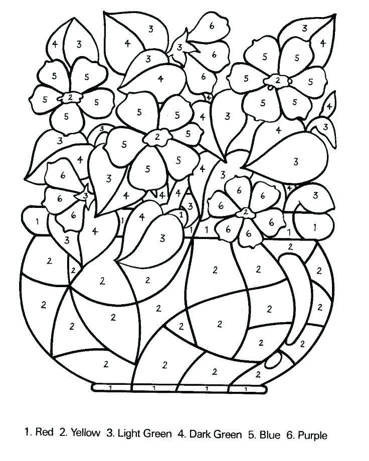 Advanced Color By Number Coloring Pages At GetColorings