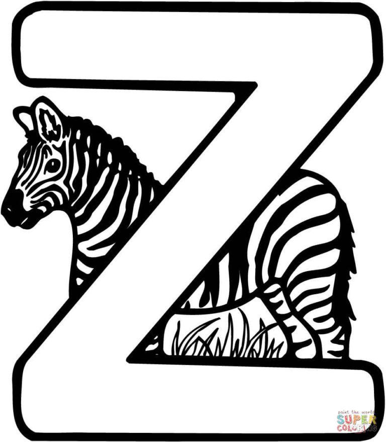 Ausmalbild Buchstabe Z F r Zebra Ausmalbilder Kostenlos