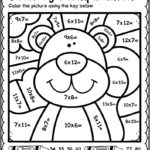 Autumn Fall Color By Multiplication Worksheets