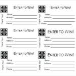 Blank Raffle Ticket Tickets Template Free Printable