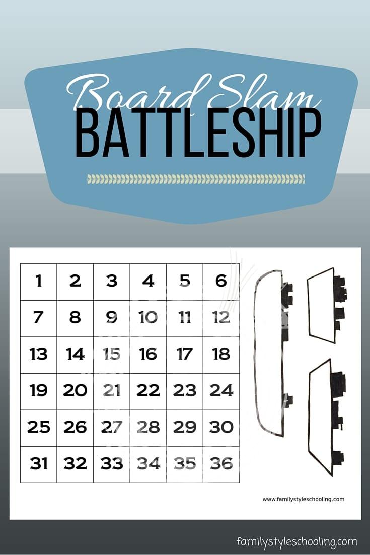 Board Slam Battleship Family Style Schooling