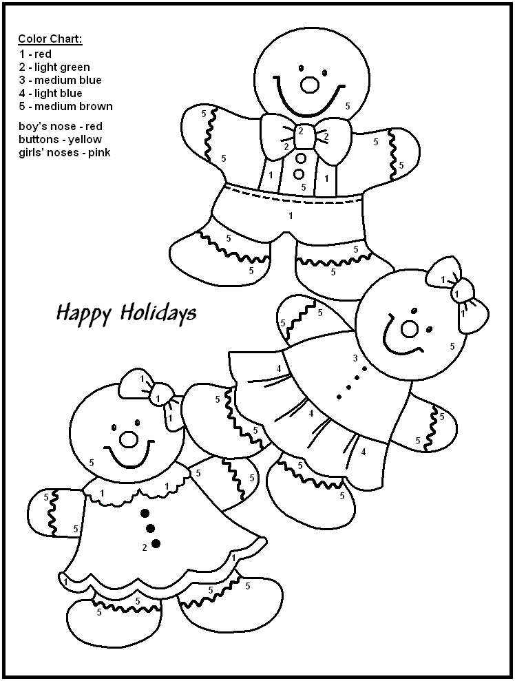 Christmas Color By Numbers Best Coloring Pages For Kids