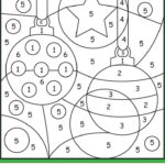 Christmas Ornaments Color By Number Christmas Color By