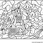 Color By Number Adults House Free Coloring Pages Printable