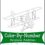 Color By Number Airplane Addition Mamas Learning Corner